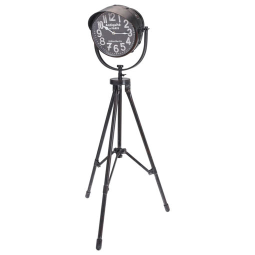 Immagine di Home&Styling Orologio da Terra 105 cm in Metallo Nero