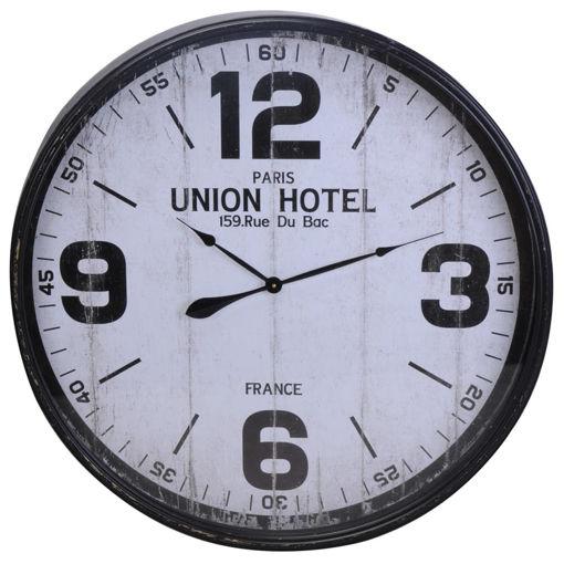 Immagine di Home&Styling Orologio da Parete Nero e Bianco in Metallo