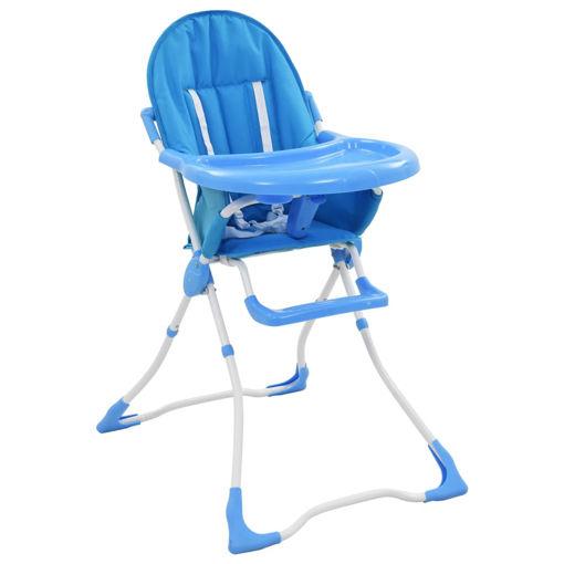 Immagine di Seggiolone Pappa per Bambini Blu e Bianco