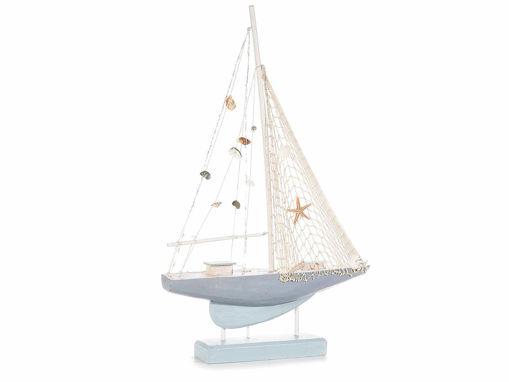 Barca Grande in Legno da Appoggiare con Luci