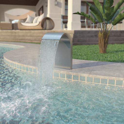 Immagine di Fontana per Piscina in Acciaio Inossidabile 45x30x65 cm Argento