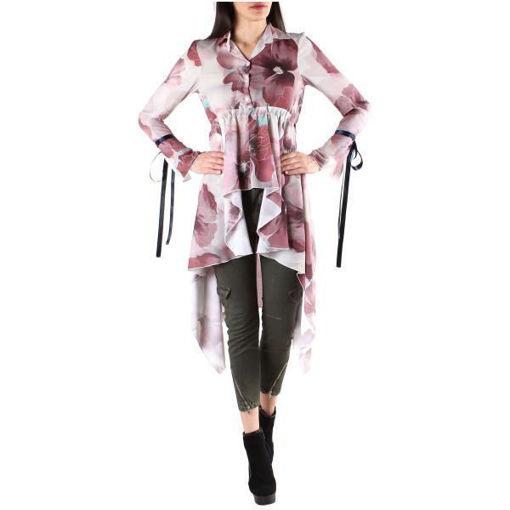 Camicia Donna Lunga con Fiori
