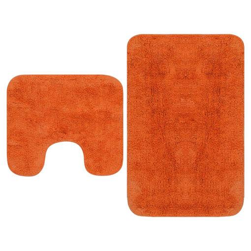Immagine di Set Tappetini per Bagno 2 pz in Tessuto Arancione