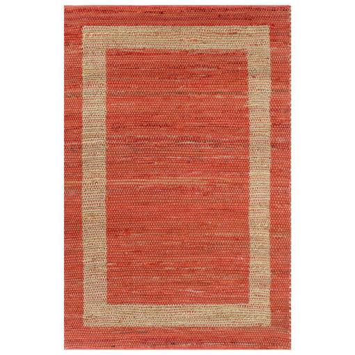 Immagine di Tappeto Artigianale in Juta Rosso 80x160 cm