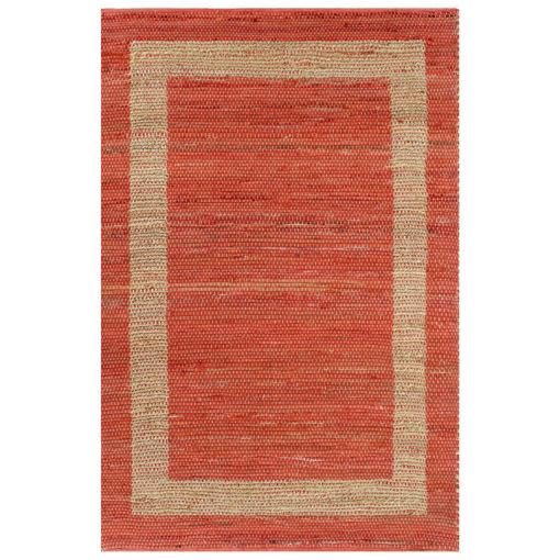 Immagine di Tappeto Artigianale in Juta Rosso 160x230 cm