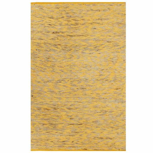 Immagine di Tappeto Artigianale in Juta Giallo e Naturale 80x160 cm