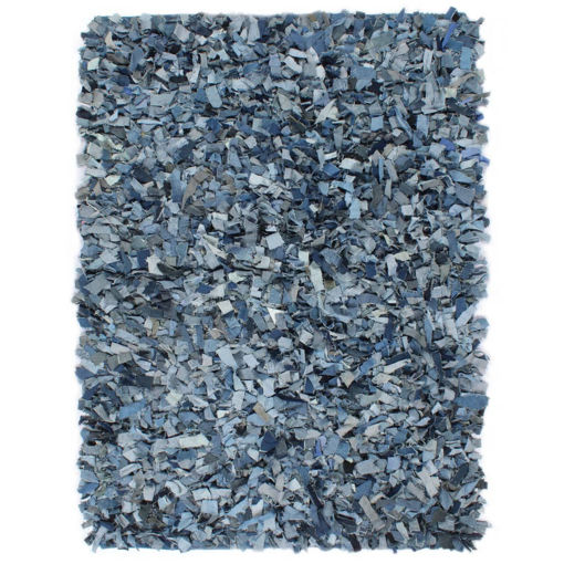 Immagine di Tappeto Shaggy a Pelo Lungo in Denim 120x170 cm Blu