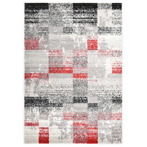 Immagine di Tappeto Grigio e Rosso 80x150 cm in PP