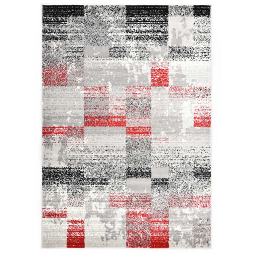 Immagine di Tappeto Grigio e Rosso 160x230 cm in PP