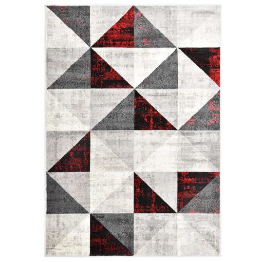 Immagine di Tappeto Nero e Rosso 160x230 cm in PP