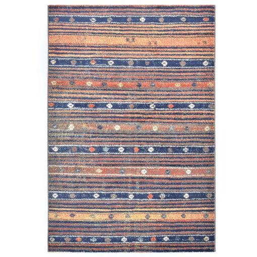 Immagine di Tappeto Blu e Arancione 140x200 cm in PP