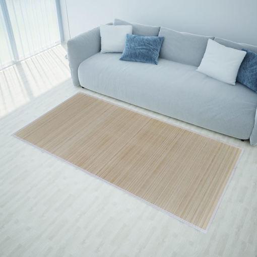 Immagine di Tappeto in Bambù Naturale Rettangolare 150 x 200 cm