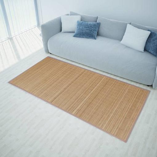 Immagine di Tappeto in Bambù Marrone Rettangolare 200 x 300 cm
