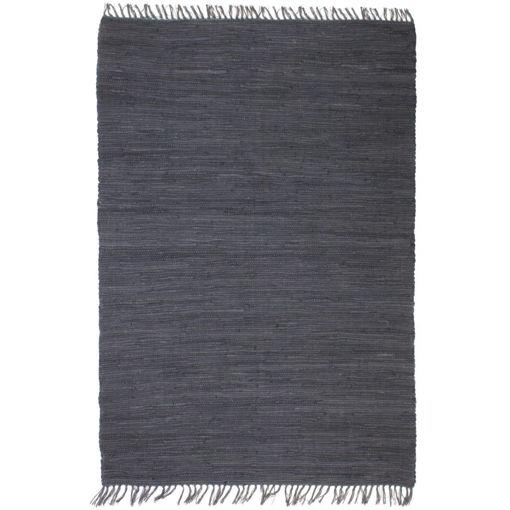 Immagine di Tappeto Chindi Tessuto a Mano in Cotone 200x290 cm Antracite