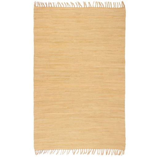 Immagine di Tappeto Chindi Tessuto a Mano in Cotone 200x290 cm Beige