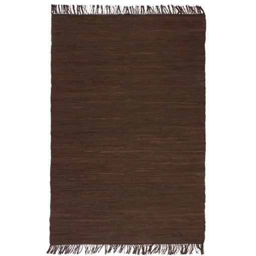 Immagine di Tappeto Chindi Tessuto a Mano in Cotone 80x160 cm Marrone