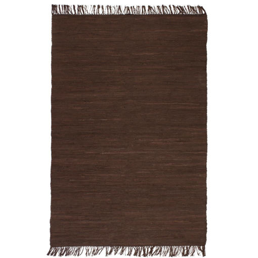 Immagine di Tappeto Chindi Tessuto a Mano in Cotone 120x170 cm Marrone