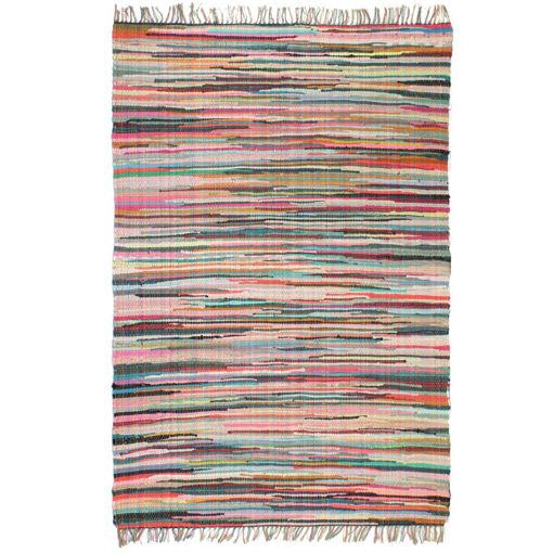 Immagine di Tappeto Chindi Tessuto a Mano in Cotone 120x170 cm Multicolore