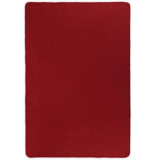 Immagine di Tappeto di Iuta con Base in Lattice 70x130 cm Rosso
