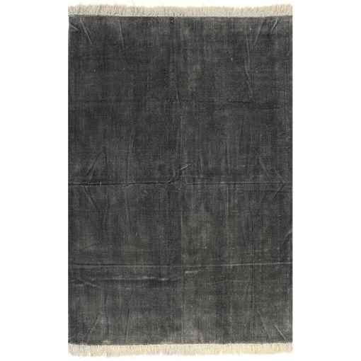 Immagine di Tappeto Kilim in Cotone 200x290 cm Antracite