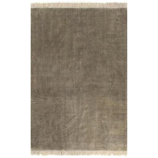 Immagine di Tappeto Kilim in Cotone 120x180 cm Grigio Talpa