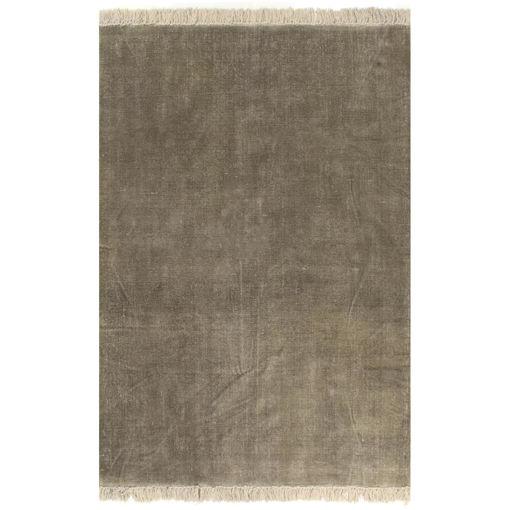Immagine di Tappeto Kilim in Cotone 200x290 cm Grigio Talpa