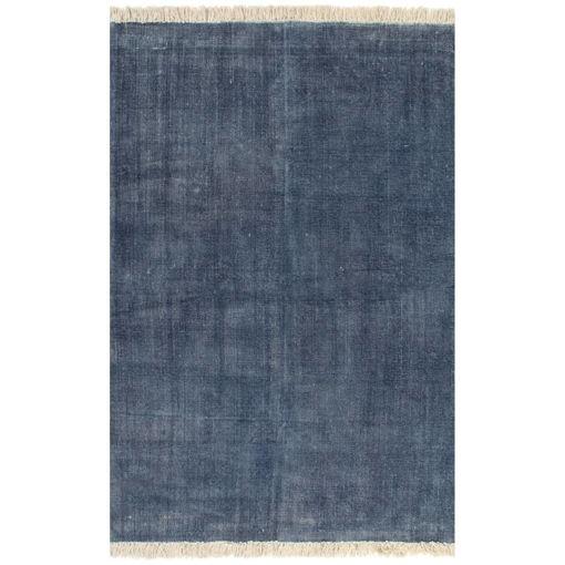 Immagine di Tappeto Kilim in Cotone 120x180 cm Blu