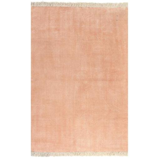 Immagine di Tappeto Kilim in Cotone 200x290 cm Rosa
