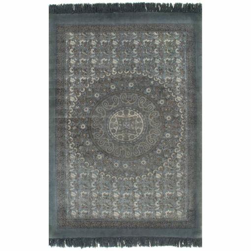 Immagine di Tappeto Kilim in Cotone 160x230 cm con Motivi Grigi
