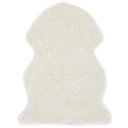 Immagine di Tappeto in Similpelle di Pecora 60x90 cm Bianco