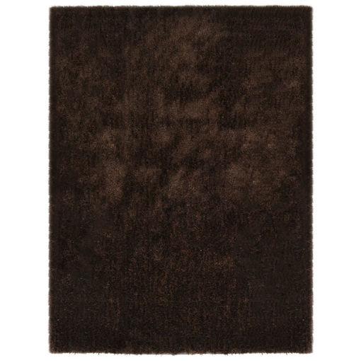 Immagine di Tappeto Shaggy a Pelo Lungo 120x160 cm Marrone