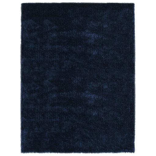 Immagine di Tappeto a Pelo Lungo Shaggy 80x150 cm Blu
