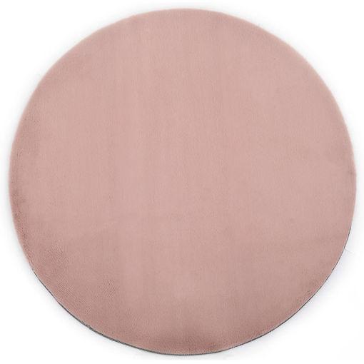 Immagine di Tappeto 160 cm Pelliccia di Coniglio Sintetica Rosa Antico