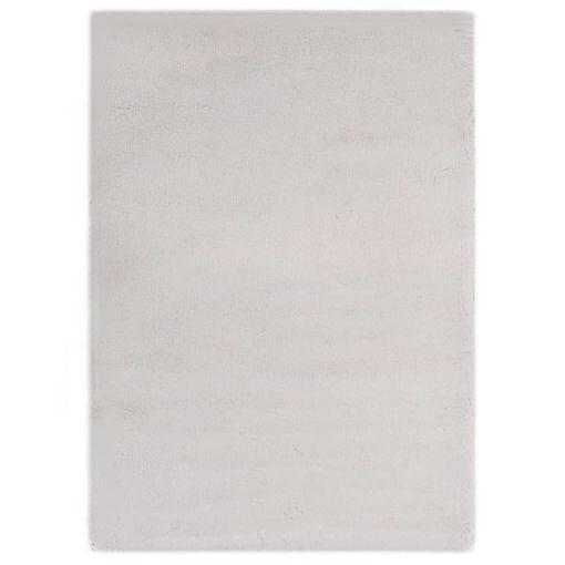 Immagine di Tappeto 80x150 cm Pelliccia di Coniglio Sintetica Grigio