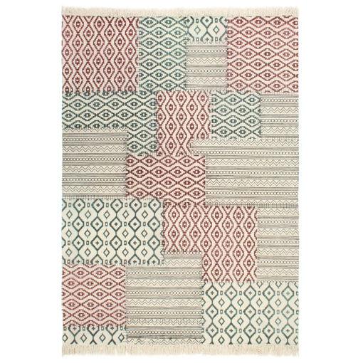Immagine di Tappeto Kilim Tessuto a Mano in Cotone 160x230 cm Multicolore