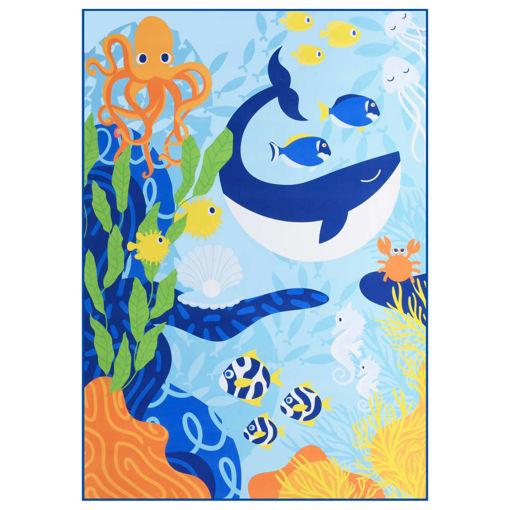 Immagine di Tappeto Stampato Multicolore 140x200 cm in Tessuto