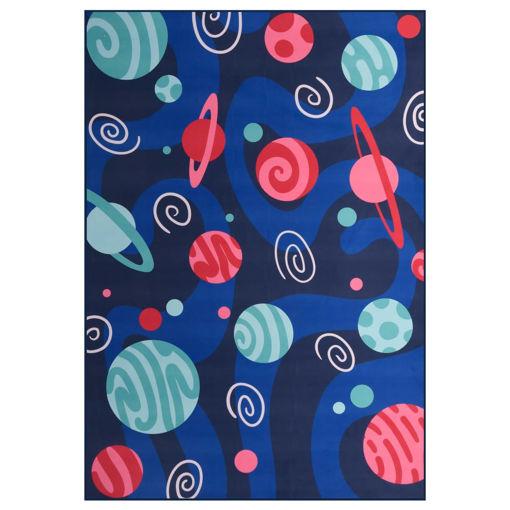 Immagine di Tappeto Stampato Multicolore 120x160 cm in Tessuto