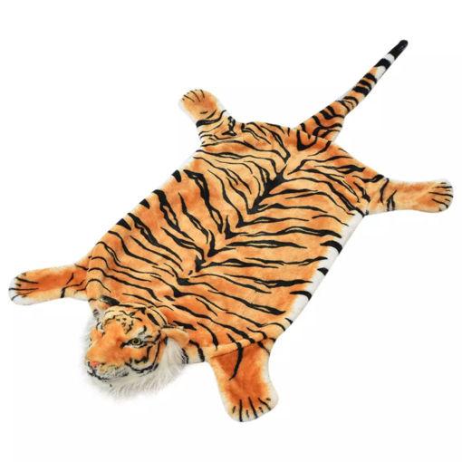 Immagine di Tappeto di Peluche a Forma di Tigre 144 cm Marrone