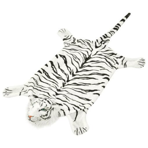 Immagine di Tappeto di Peluche a Forma di Tigre 144 cm Bianco