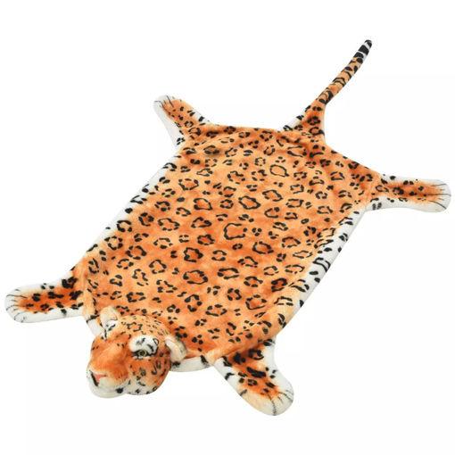 Immagine di Tappeto di Peluche a Forma di Leopardo 139 cm Marrone