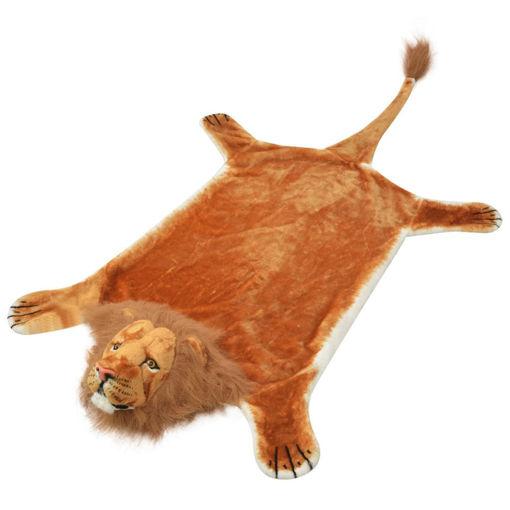 Immagine di Tappeto di Peluche a Forma di Leone 205 cm Marrone