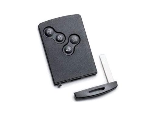 Chiave Telecomando Completa Smart key Card per Renault Clio 4 IV Captur Symbol 285971998R Transponder 4A Hitag AES PCF7953M 434MHz Fsk 4 Tasti VA2