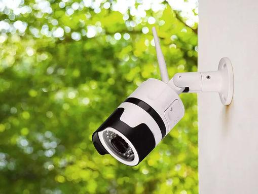 TeleCamera IP WiFI Wireless Con Antenna Esterno IP65 3MP FullHD Visione Notturna Allarme Movimento Controllo APP SKU-8987