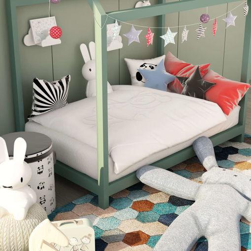 Immagine di Set Piumone per Bambini 3 pz Bianco 120x150 cm/40x60 cm