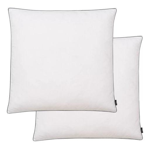 Immagine di Cuscini 2 pz in Mix di Piume 80x80 cm Bianco