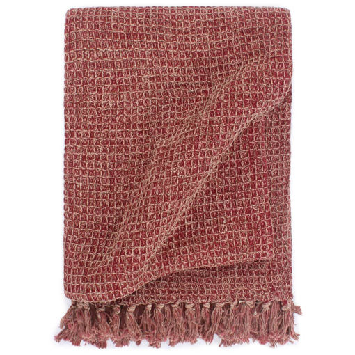 Immagine di Copriletto in Cotone 125x150 cm Rosso Borgogna