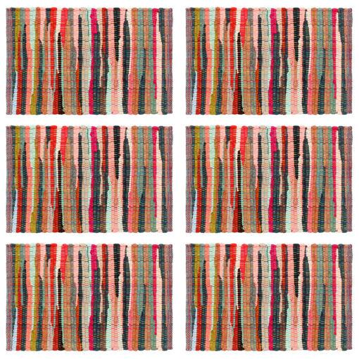 Immagine di Tovagliette 6 pz Chindi Neutro Multicolore 30x45 cm Cotone