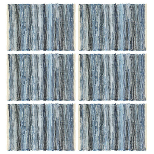 Immagine di Tovagliette 6 pz Chindi Blu Denim 30x45 cm Cotone