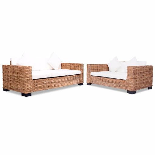 Immagine di 15 Pz Set Sofa in Rattan Naturale