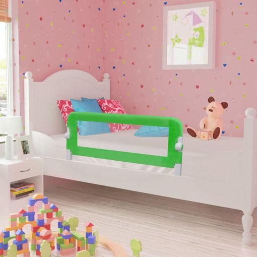 Immagine di Sponde Letto per la Sicurezza dei Bambini 2 pz Verde 102x42 cm